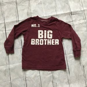 Carter's Toddler Size 2T Big Brother LS Tee